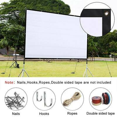 AU21.79 • Buy Foldable Projector Screen 16:9/4:3 Home Theater Cinema Movie Projection Outdoor
