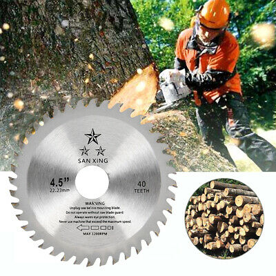 £5.99 • Buy 115mm 40 Tooth Circular Wood Saw Blade Disc Bore Cutting For Angle Grinder WL