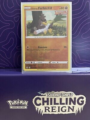 $0.99 • Buy Galarian Farfetch'd Chilling Reign 078/198 Reverse Holo Pokemon Card