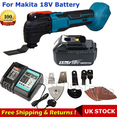 £117.80 • Buy Cordless Oscillating Multi-Tool Saw Blade Sanding Battery Variable Speed Charger