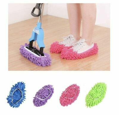 £3.99 • Buy 2X Dust Mop Slippers Lazy Floor Polishing Cleaning Socks Shoes Mop Novelty Gifts