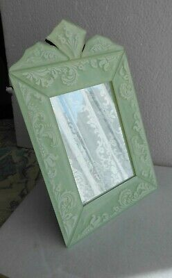 £17.99 • Buy Jade Green Etched Glass Portrait Mirror Stand 8.5 X 5.5ins By Lisbeth Dahl