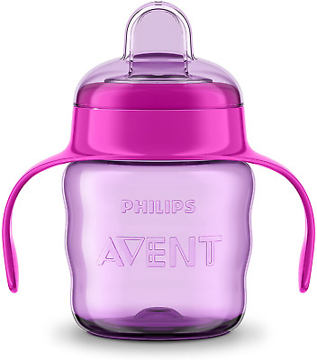 £5.36 • Buy Philips Avent Easy Sip Spout Cup With Handle, 200ml, Pink/Purple