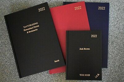 £10.70 • Buy PERSONALISED 2022, A4 And A5 Day A Page Diaries. Your Name Or Message Embossed