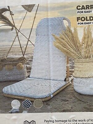 AU170 • Buy Beach Chair Rattan Foldable Portable Shoulder Strap Included Light Weight