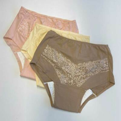 £24.99 • Buy Lace Incontinence Briefs (Pack Of 3) - Coffee & Cream & Pink - M (14-16) |