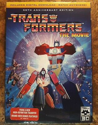 £11.70 • Buy Transformers 30th Anniv. Edition Animated Movie DVD + SLIP COVER NEW!