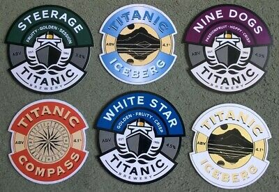 £1.99 • Buy Six Titanic Brewery Real Ale Beer Pump Clips