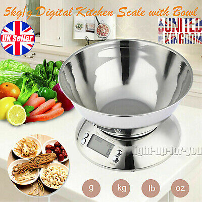 £16.33 • Buy 5KG Digital Kitchen Scale Electronic Household Food Cooking Weighing Bowl Scales