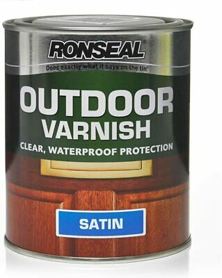 £16.99 • Buy Ronseal Outdoor Varnish - Clear - Satin - 750ml - Waterproof Protection