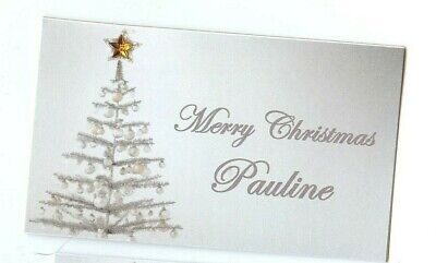 £5 • Buy Personalised Christmas Table Name Place Cards Set Of 6 Or 12 Xmas Table Cards