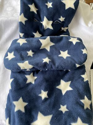 £9 • Buy John Lewis Thick Fleece Blue & White Stars Buggy Snuggle Cozytoes