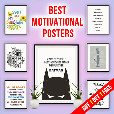 £3.39 • Buy Motivational Quotes Poster Inspirational Large Print Wall Art Home Décor Picture