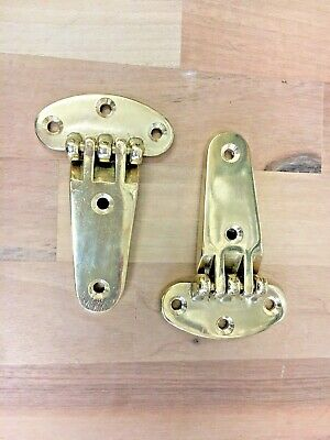 £21.99 • Buy Brass Hatch Hinge Hinges Pair Narrowboat Boat Yacht Dinghy