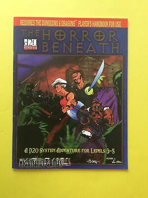 AU23 • Buy Dungeons & Dragons D20 System Module The Horror Beneath Levels 3-5