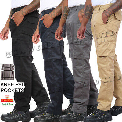 £14.49 • Buy Mens Cargo Combat Work Trousers Size 28-46 Chino Pants Work Wear Knee Pad Pocket