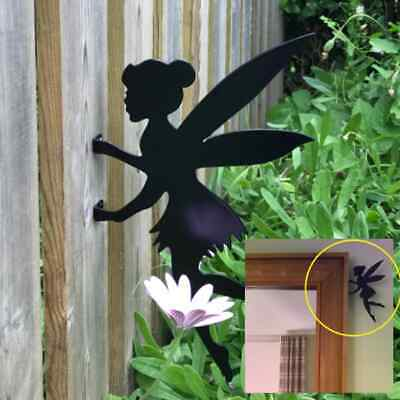 £14.99 • Buy Fairy Tinkerbell Fence Topper - Outdoor Metal Ornament - Gardening Decor Gifts