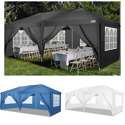 £259.89 • Buy 3x6 3x3M Gazebo Marquee Strong Waterproof Wedding Party Patio Tent PopUp W/Sides