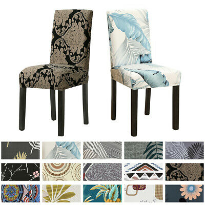 AU4.98 • Buy Dining Chair Covers Spandex Stretch Washable Cover Wedding Banquet Party 4/8PCS