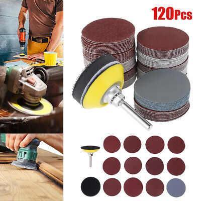 £7.59 • Buy 120PCS Sanding Discs Pads For Drill Grinder Rotary Tools+Backing Pad 2inch UK