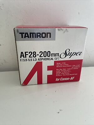 £119 • Buy Tamron 28-200mm 3.8-5.6 Macro Aspherical LD (IF) 171DE Canon EF Fit. NEW IN BOX