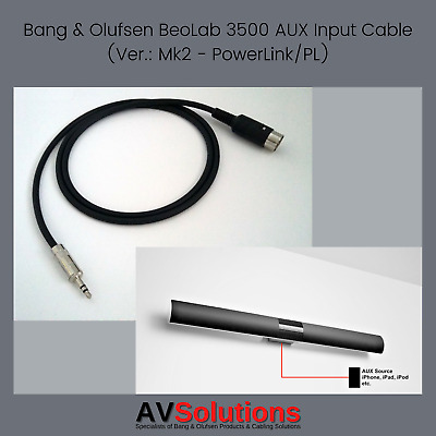 £25.99 • Buy 7 M. BeoLab 3500 Mk2 (PL) Cable IPod/iPad/iPhone/PC/TV To Bang & Olufsen B&O