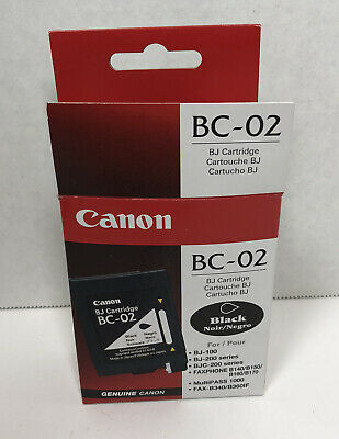 £11.71 • Buy New Genuine Canon BC-02 Black Ink Cartridge Canon Factory Sealed Tub