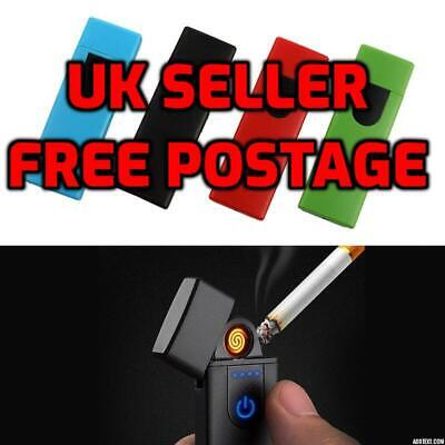 £4.99 • Buy USB Electric Slim Lighter Cigarette Rechargeable Flameless Windproof In Box UK