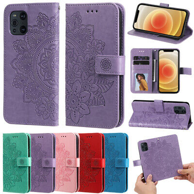 AU10.99 • Buy For OPPO Find X3 X2 Lite F19 Pro A95 A72 A52 A32 Leather Wallet Stand Case Cover