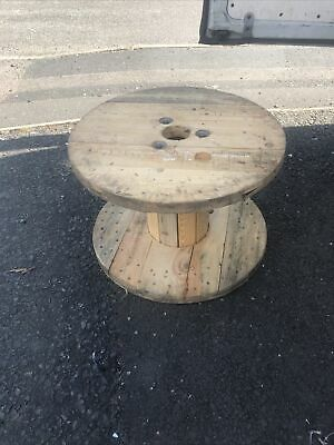£25 • Buy LARGE WOODEN CABLE DRUM /SPOOL MAKE IDEAL RETRO GARDEN OR  MAN CAVE 47 Cms High