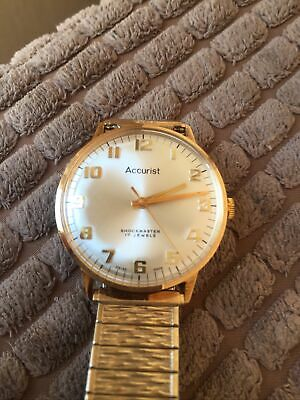 £49.99 • Buy Mens Vintage Accurist 17 Jewels Shockmaster   Immaculate Worn Twice