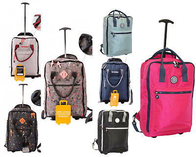 £24.99 • Buy 18  Cabin Approved Bag Wheeled Carry On Flight Luggage Trolley Case Bag Backpack