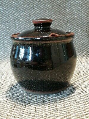 £29.99 • Buy Winchcombe - Studio Pottery - Lidded Preserve Pot - Personal Seal To Base