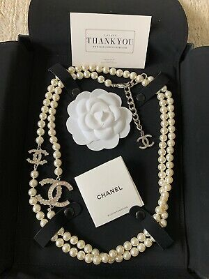 £1650 • Buy CHANEL RARE Crystal AUTHENTIC Timeless Classic Pearl CC Necklace