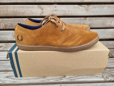 £24 • Buy Fred Perry Byron Shoes Ginger Suede Uk 8 Eu 42