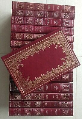 £15 • Buy DIFFERENT AUTHORS -Guild Publishing-Collection Of 15 Volumes - Red Faux Leather