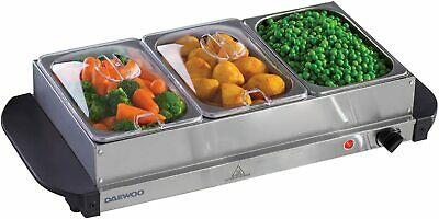 £36.99 • Buy Electric Food Warmer Buffet Server Adjustable 200w Temperature Hot Plate Tray