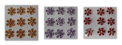 £1.25 • Buy Daisy Diamante Flowers (9 Pcs) Embellishments For Cards And Crafts