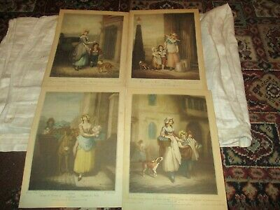 £5 • Buy Four Vintage Cries Of London Print Set To Music On Reverse