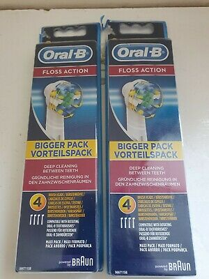 AU27.59 • Buy Braun Oral B - Floss Action Toothbrush Replacement Brush Heads (pack Of 8)