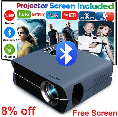 AU188.09 • Buy AU LED Android WiFi Projector 1080p Blue-tooth Full HD Home Theater HDMI USB VGA