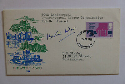 £30 • Buy FDC GB Harold Wilson Signed Autograph International Labour Authenticated