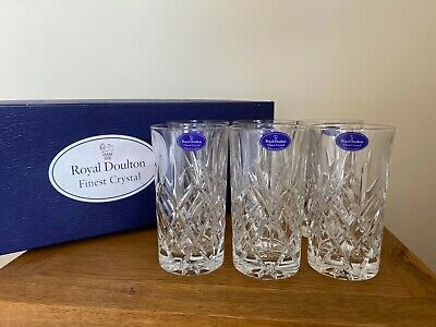 £40 • Buy Six Royal Doulton Finest Crystal Hi Ball Glasses With Box