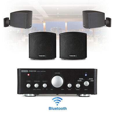 £195 • Buy Speaker And Amplifier Home HiFi AUX Stereo Bluetooth Music Sound System (Pair)