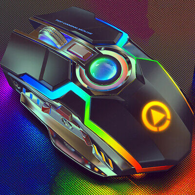 AU29.79 • Buy A5 Wireless Gaming Mouse USB Rechargeable Ergonomic RGB Streamer For Computer