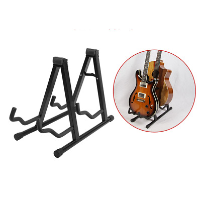 AU48.45 • Buy Folding Double Guitar Stand Floor Rack Electric Acoustic & Bass Gig Holder AUS