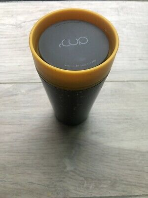 £9 • Buy Brand New RCup Recycled 12oz Coffee Cup (Black/Yellow)