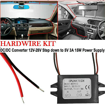 £3.65 • Buy 12v To 5v Supply Power Adapter 3a Charger Dc Converter For Car Connector Uk