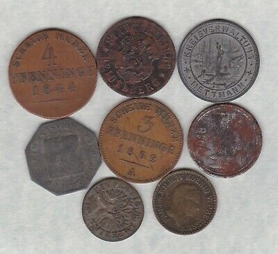 £9.99 • Buy Eight German States Coins 1729 To 1918 In Fair Or Better Condition.