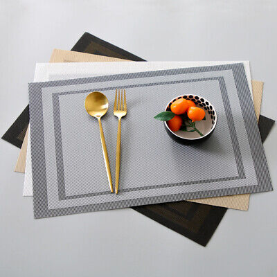 AU7.25 • Buy 1PCS PVC Placemats Coasters Table Runner Dining Table Mats Non-Slip Washable